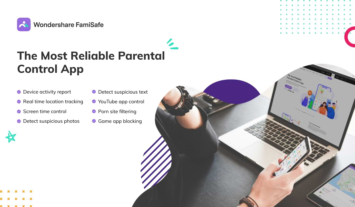 Ensuring the safety of your child with FamiSafe parental control app and location tracker app