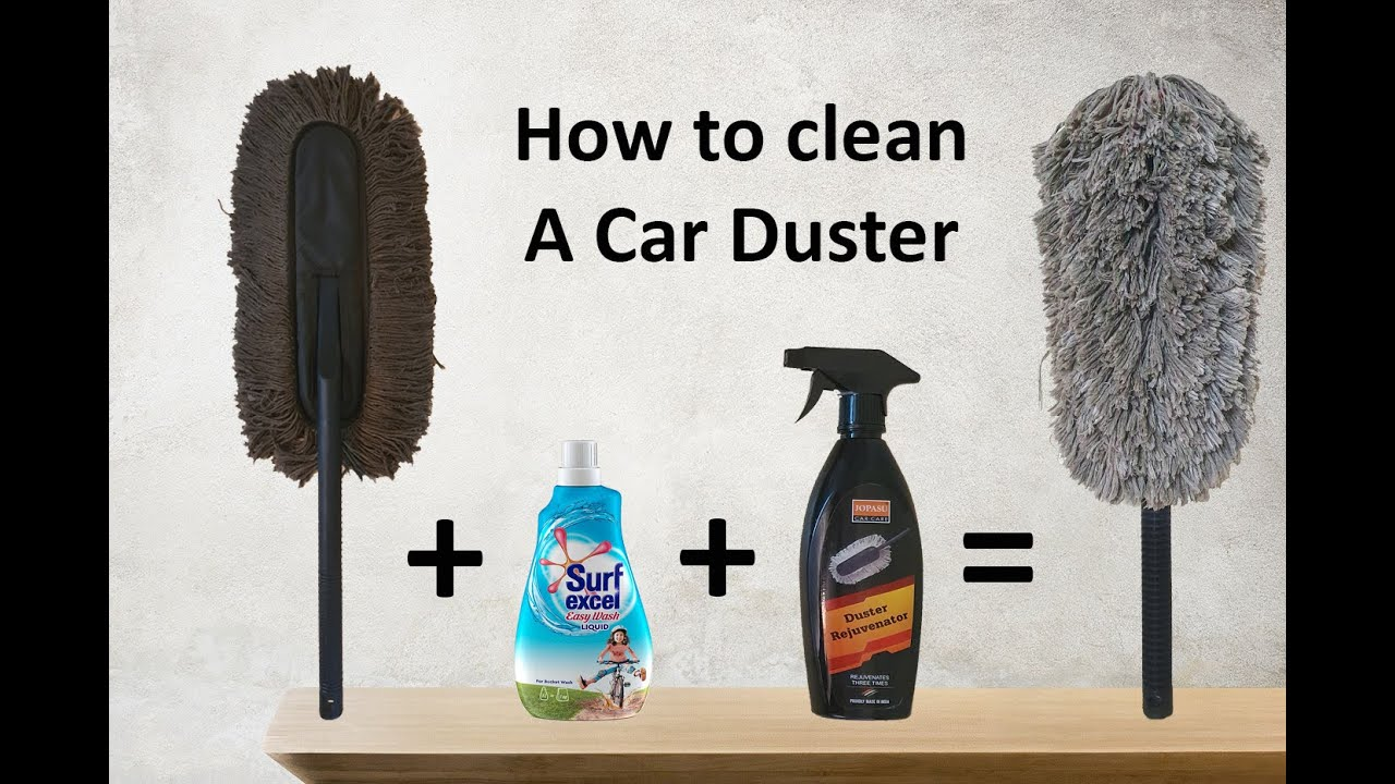 How to Clean a Car Duster