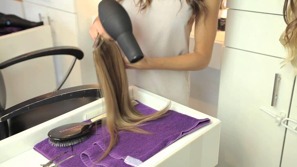 Dry your hair extensions