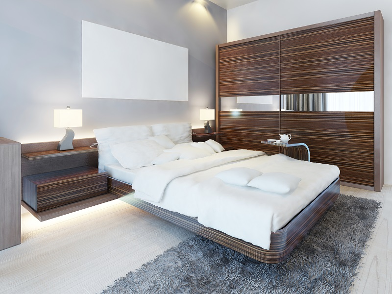Why are built-in wardrobes more efficient in terms of space and usage?