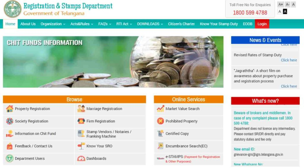 IGRS TELANGANA AND ONLINE SERVICES FOR CITIZENS